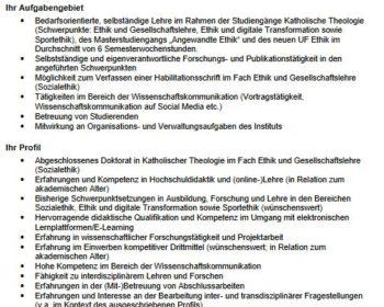 Stellenausschreibung Lecturer Graz