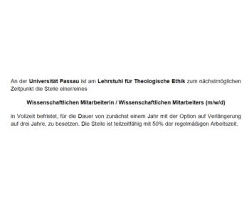 Stellenausschreibung Passau-klein